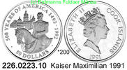 Cook Islands 50 Dollars 1991 PP  . *200 Kaiser Maximilian  43,50 EUR