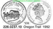 50 Dollars 1992 Cook Islands *239 KM202 Oregon Trail 500 J. Amerika . 2... 43,50 EUR