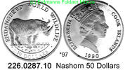 50 Dollars 1990 Cook Islands Cook Inseln *97 KM55 Nashorn . 226.0287.10... 26,75 EUR  +  8,95 EUR shipping