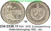 5 Pesos 1981 Cuba Kuba  . *66 FAO WFD Zucker unc  24,00 EUR