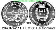 5 Pesos 1988 Cuba Kuba  . *194 FEM´88 drei Spieler unc  24,75 EUR  +  8,95 EUR shipping