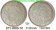 5 Ghirsh 1327 /6H Egypt Ägypten *21 KM308 . 271.0303.12  vz  35,00 EUR