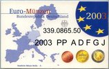 5x3,88 Euro 2003 Deutschland BRD Germany Kursmünzensatz 2003 A D F G J ... 68,00 EUR