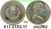1 Crown 1977 Isle of Man Insel Man  *44a KM42a Silver Jubilee . 417.015... 23,75 EUR  +  8,95 EUR shipping