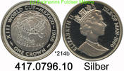 Isle of Man Insel Man 1 Crown 1986 PP *214b KM164 FWM´86 Mexico Globus .... 39,00 EUR
