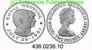 2 Pounds 1981 Jersey *51a KM52a Hochzeit . 436.0236.10 PP  27,50 EUR  +  8,95 EUR shipping
