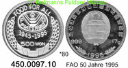 Korea North Nordkorea 500 Won 1995 PP *80 KM146 FAO 50 Jahre . 450.0097.10 35,00 EUR