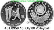 Korea South Südkorea 10.000 Won 1987 PP  . *108 Oly´88 Voleyball 46,50 EUR