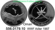 2 1/2 Rials 1987 Oman *81 Fauna WWF Adler . 556.0179.10  PP  38,50 EUR  +  8,95 EUR shipping