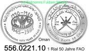 1 Rial 1995 Oman *112 FAO 50 Jahre . 556.0221.10  PP  43,50 EUR  +  8,95 EUR shipping