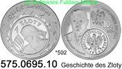 10 Zloty  2004 Poland Polen *502 KMY480 Geschichte des Zloty . 575.0695... 39,00 EUR