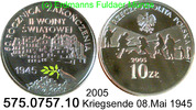 10 Zloty 2005 Poland Polen *548 KMY554 Farbmünze 08.Mai 1945 Kriegsende... 33,00 EUR  +  8,95 EUR shipping
