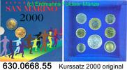 6888 Lire 2000 San Marino *402-*409 KM399-406 Kursmünzensatz . 630.0668... 249,00 EUR  +  8,95 EUR shipping