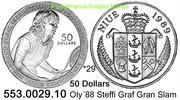 50 Dollars 1989 Niue *29 KM44 Oly´88 Graf Grand-Slam PP  49,50 EUR  +  8,95 EUR shipping