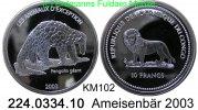 10 Francs 2003 Congo-Kinshaza (Democrat.Rep.) KM102 Ameisenbär Giant Pa... 39,00 EUR
