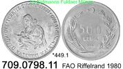 500 Lira 1980 Turkey Türkei *449.1 KM940.1 FAO Riffelrand  unc  23,00 EUR  +  8,95 EUR shipping