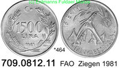 1500 Lira 1981 Turkey Türkei *464 KM947 FAO WFD Ziegen  unc  25,00 EUR