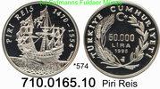 50.000 Lira 1995 Turkey Türkei *574 KM1038 Piri Reis Schiff  PP  39,75 EUR  +  8,95 EUR shipping