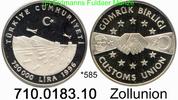 750.000 Lira 1996 Turkey Türkei *585 KM1049 Zollunion PP  33,00 EUR