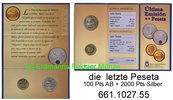 700 Pesetas 2001 Spain Spanien . .  letzte Pesetas ANB + Silber Blister... 39,75 EUR
