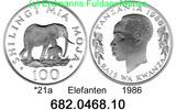 100 Shilingi 1986 Tanzania Tansania *21a KM18a WWF Elefanten . 682.0468... 28,00 EUR  +  8,95 EUR shipping