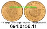 10 Paanga 1980 Tonga . . *49 FAO Frauenjahrzehnt Gold . . . unc  39,00 EUR  +  8,95 EUR shipping