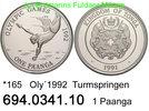 1 Paanga 1991 Tonga . .  *165 . Oly´92 . Turmspringen  . . . PP  29,00 EUR  +  8,95 EUR shipping