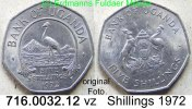 5 Shillings 1972 Uganda *A6 KM18 5 Shillings RAR . 716.0032.12 v-unc  110,00 EUR