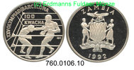 100 Kwacha 1992 Zambia Sambia *33 Oly´92 Boxer PP  39,00 EUR  +  8,95 EUR shipping