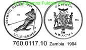 20 Kwacha 1994 Zambia Sambia  . . *42 Lillehammer . . . PP  35,00 EUR  +  8,95 EUR shipping