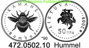 50 Litas 2008 Litauen *90 KM159  Hummel . 472.0502.10 PP  44,75 EUR