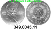 Deutschland DDR Germany DDR 20 Mark 1973 unc Bebel . 349.0045.11 	 45,00 EUR