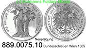 1 Taler 1868 Österreich III. Deutsches Bundesschießen  . 889.0075.10 PP  25,00 EUR  +  8,95 EUR shipping