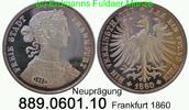 Vereinstaler 1860 Deutschland Frankfurt AKS8 Nachprägung . 889.0601.10 ... 25,00 EUR