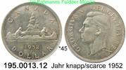 1 Dollar 1952 Kanada  *45 KM46 . 195.0013.12 vz  80,00 EUR