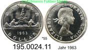 1 Dollar 1963 Kanada *55 KM54 . 195.0024.11  unc  28,00 EUR  +  8,95 EUR shipping