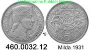 5 Lati 1931 Lettland *9 KM9 . 460.0032.12  vz  23,00 EUR