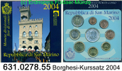 8,88 Euro 2004 San Marino Kursmünzensatz Borghesi . 631.0278.55 unc  72,00 EUR  +  8,95 EUR shipping