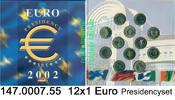 12x1 Euro 2002 Belgien Presidencyset . 147.0007.55  unc original  46,00 EUR