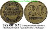 20 Pfennig o.J. Deutschland Consumverein Vollmerz, Ramholz, Hinkel Cons... 35,00 EUR