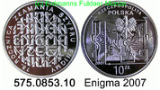 10 Zloty 2007 Poland *626 KM587 Enigma . 575.0853.10 PP  31,00 EUR  +  8,95 EUR shipping