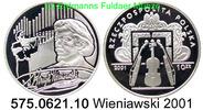 10 Zloty 2001 Poland *429 KMY459 Henryk Wieniawski . 575.0621.10  PP  49,75 EUR