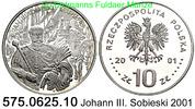 10 Zloty 2001 Poland *432 KMY458 Johann III. Sobieski . 575.0625.10  PP  94,00 EUR  +  8,95 EUR shipping