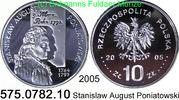10 Zloty 2005 Polen Poland *563 KM552 Stanislaus August Poniatowski . 5... 25,00 EUR