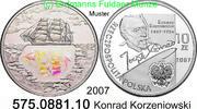10 Zloty 2007 Polen Poland *646 Konrad Korzeniowski Segelschiff . 575.0... 59,00 EUR  +  8,95 EUR shipping