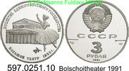 3 Rubel 1991 Russland Russia *232 KMY274 Bolschoitheater . 597.0251.10 PP  33,50 EUR  +  8,95 EUR shipping
