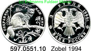 3 Rubel 1994 Russland *380 KMY460 Zobel . 597.0551.10 PP  74,00 EUR  +  8,95 EUR shipping