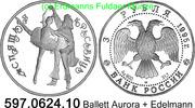 3 Rubel 1995 Russland *425 KMY394 Ballett Aurora + Edelmann . 597.0624.... 49,75 EUR  +  8,95 EUR shipping