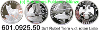 3x1 Rubel 2005 Russland *881-883 KMY882-884 Tiere von roter Liste . 601... 149,00 EUR  +  8,95 EUR shipping
