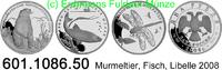 3x2 Rubel 2008 Russland Murmeltier, Fisch, Libelle . 601.1086.50 PP  159,00 EUR  +  8,95 EUR shipping